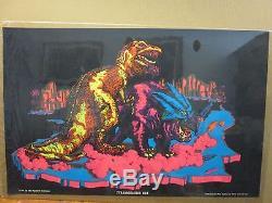 Vintage 1971 Tyrannosaurus Rex original blacklight dinosaur poster 11840