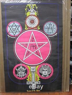 Vintage 1972 Season of the witch original blacklight poster 12405