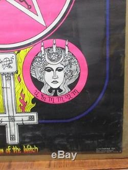 Vintage 1972 Season of the witch original blacklight poster 12551