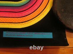 Vintage 1975 MICHAEL JACKSON 5 VELVET BLACK LIGHT POSTER DYNAMIC PUB Co 32x21