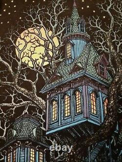 Vintage 1979 Blacklight Poster Tree House Western Graphics VFC (No Pin Holes)