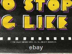 Vintage 1980 Pac Man Black Light Poster Velvet Arcade Game Bally Midway