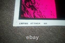 Vintage 1980 Star Wars Empire Attack Blacklight Poster #931 Funky Enterprises
