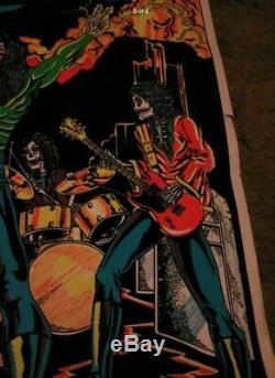 Vintage 1981 Blacklight Poster We Sold Our Souls For Rock & Roll Black Sabbath