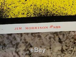 Vintage 1988 THE DOORS JIM MORRISON Black Light Poster Flocked RARE Bob Dara