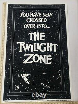 Vintage 1989 Original 23X35 PF-197 Iconic Twilight Zone Felt Blacklight Poster