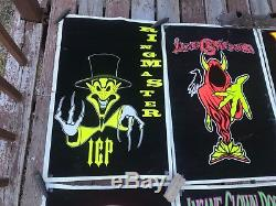 Vintage 1998-2002 Insane Clown Posse Black Light Poster Lot Icp 23 X 35