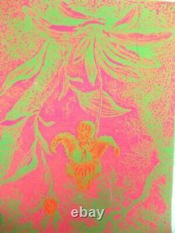 Vintage 60s Hambly Studios Black Light Psychedelic Poster #6