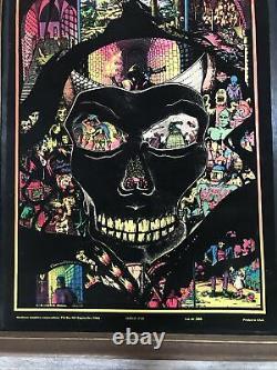 Vintage 70s Western Graphics Velvet Horror Study Cat. #388 Blacklight Poster