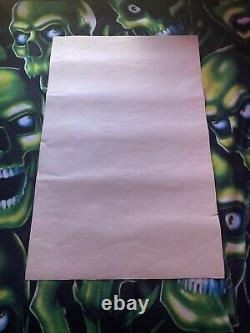 Vintage 90s Iron Maiden Number of the Beast Blacklight Poster VERY RARE