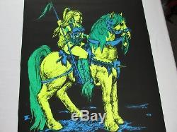 Vintage ATTILAS MATE Blacklight Poster 1969 Houston Blacklight Inc Rare Find NOS