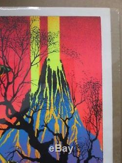 Vintage Black Light Poster 1970's St. George and the dragon Inv#G671