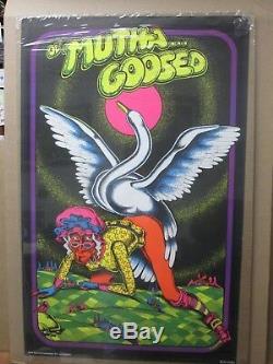 Vintage Black Light Poster 1972 OL' Mutha Goosed Petangno Inv#G26
