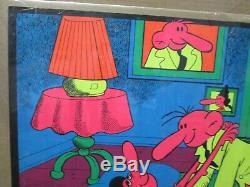 Vintage Black Light Poster 70's Truckin'. Popeye parody Inv#G4461