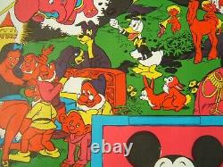 Vintage Black Light Poster Disney Orgy Wally Wood 1967 Sex Vgc