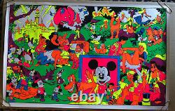 Vintage Black Light Poster Disney Pin-up Wally Wood Orgy Sex Drugs Psychedelic