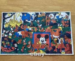 Vintage Black Light Poster Disney Pin-up, Wally Wood Orgy Sex Psychedelic 1966