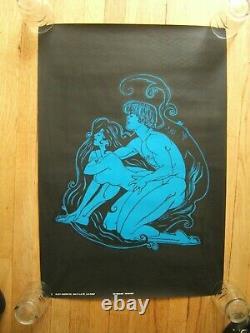 Vintage Black Light Poster Midnight Passion Platt Poster Co