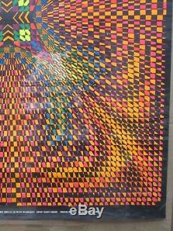 Vintage Black Light Poster Psychedelic ENERGY 1968 In#G1390