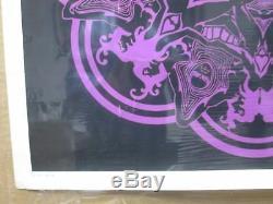 Vintage Black Light Poster Psychedelic Peace 1967 Inv#G923