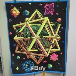Vintage Black Light Poster STARS Rolled