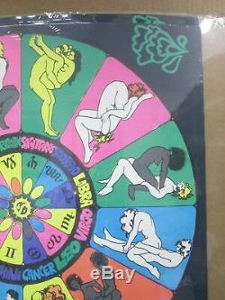 Vintage Black Light Poster Zodiac Different strokes differ folks 1971 Inv#G965
