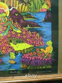 Vintage Black light Poster Magic Forest 1971 saladin G6175