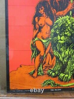 Vintage Black light poster THE RULERS II 1971 Inv#G4083