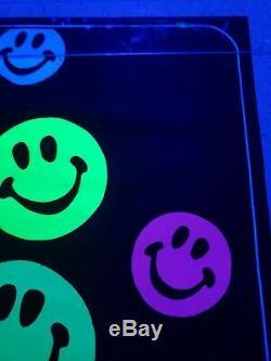 Vintage Blacklight Poster 1960s Rare Velvet Smiles Trippy Psychedelic NOS
