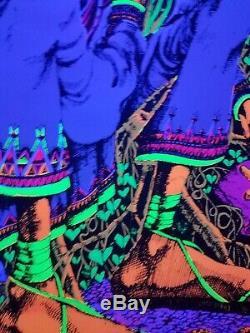 Vintage Blacklight Poster San Mezcalito Original Rare NOS Psychedelic Cocorico