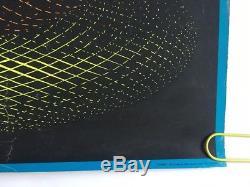 Vintage Blacklight Poster Spheres Escher Psychedelic Pin-up 1960's Headshop UV
