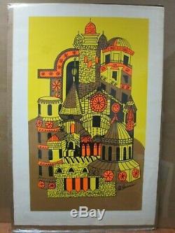 Vintage Castle Rita Hermann Black Light Poster 70's In#G4062