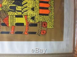 Vintage Castle Rita Hermann Black Light Poster 70's In#G80