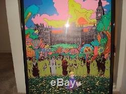 Vintage Celestial Arts GENERATIONS Blacklight Poster psychedelic neon 1969 NOS