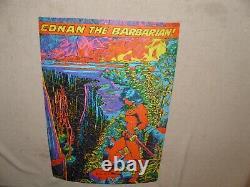 Vintage Conan The Barbarian Third Eye Blacklight Puzzle Poster Marvelmania 1971