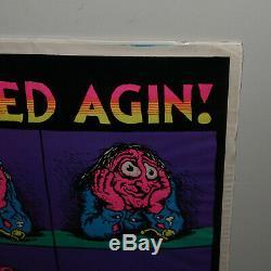Vintage Crumb Stoned Agin Blacklight Poster 1971 Weed 420 Marijuana Headshop Nos