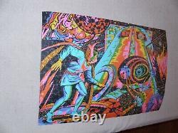 Vintage Dr. Strange Third Eye Blacklight Puzzle Glued Poster Marvelmania 1971