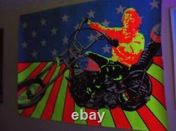 Vintage Easy Rider Poster Black Light