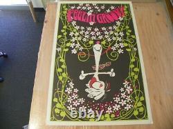 Vintage Feelin' Groovy Blacklight Pop Art A228 1970's Peanuts Snoopy 35x23