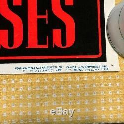 Vintage Guns n' Roses Flocked Blacklight Poster #819 Appetite for Destruction