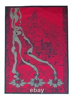 Vintage Hambly Studios California Number 4 Blacklight Poster