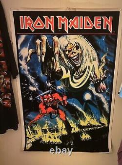 Vintage IRON MAIDEN black-light Number of the Beast poster 1983 Rare