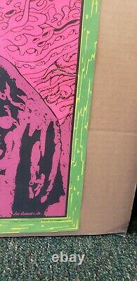 Vintage Jimi Hendrix Joe Roberts Jr. Blacklight Poster Psychedelic 1960's