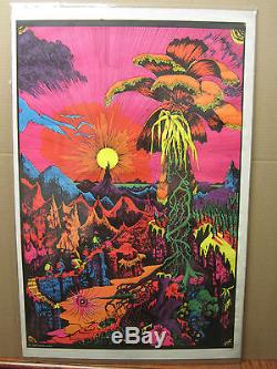 Vintage Lost horizons NOS Black light Poster original 1400