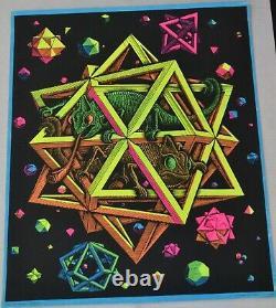 Vintage M. C. Escher STARS Blacklight Poster Mint to Near Mint Condition