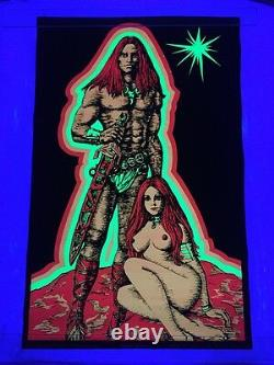 Vintage Man And Woman II HB50. 1970 Winston Blacklight Poster Nude 22x34