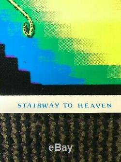 Vintage NOS Blacklight Poster Stairway to Heaven 960 23 x 35 Rare Led Zeppelin
