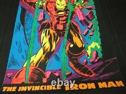 Vintage ORIGINAL Iron Man 1971 Marvel Third Eye Black Light Poster NM