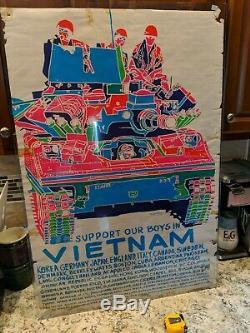 Vintage/OriginalPoster PrintsSupport Our Boys in Vietnam Blacklight Poster