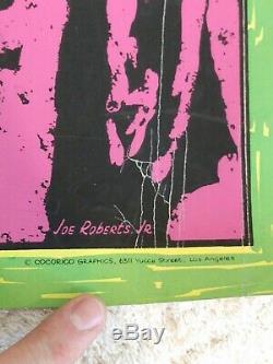 Vintage Original 1960s Jimi Hendrix Blacklight Poster Joe Robert Jr rare